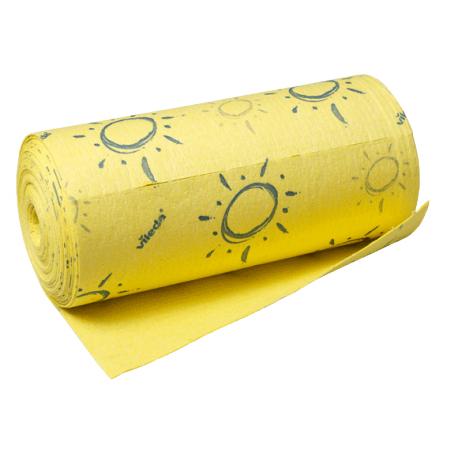 Pano Seca Mais Pré-cortado Amarelo 25x1000cm (1 Rolo)